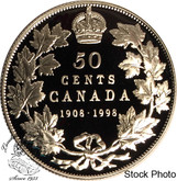 Canada: 1998 50 Cents Commemorative 1908 - 1998 Proof Coin