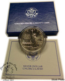 United States: 1986 $1 Liberty Commemorative Uncirculated Silver Dollar NO COA