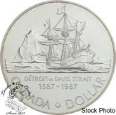 Canada: 1987 $1 John Davis BU Silver Dollar Coin