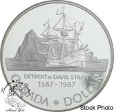 Canada: 1987 $1 John Davis Proof Silver Dollar Coin