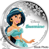 Niue: 2015 $2 Jasmine from Aladdin - Disney Princess 1 Oz. Fine Silver Coin