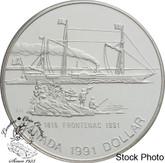 Canada: 1991 $1 175th Anniversary Of The Frontenac Proof Silver Dollar Coin