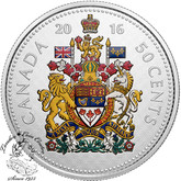 Canada: 2016 50 Cent Big Coin Series Coloured Silver Coin