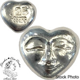 Pure Silver 1/4 Oz Smiling Heart