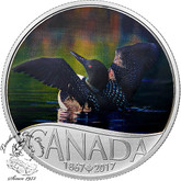 Canada: 2017 $10 Celebrating Canada Common Loon Silver Coin