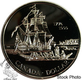 Canada: 1999 $1 225th Anniversary of the Voyage of Juan Perez BU Silver Dollar Coin
