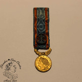 France: French Colonial Order of Civil Merit Miniature Medal