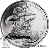 Canada: 2004 $1 400th Anniversary of the First French Settlement in North America BU Silver Dollar Coin
