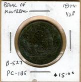 Bank of Montreal: 1844 Half Penny PC-1B5 #5f
