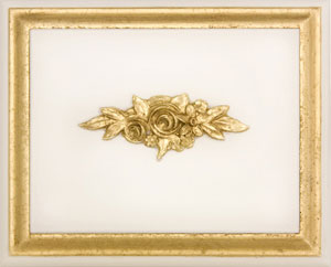 Antico White with Gold Gilding Finish