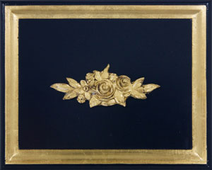 Navy with Gold Gilding Finish