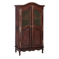 French Armoire Finish: Antique French Walnut Door Option: Brass Wire Mesh Upgraded Knobs: Brass Knob V