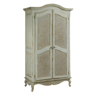 Grand Armoire Finish: Versailles Blue Door Option: Caning Knobs: Glass Knobs with Gold Base