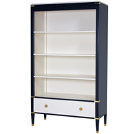 Gramercy Bookcase: Navy and Linen