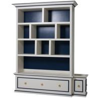 McGaw Bookcase: Linen / Navy