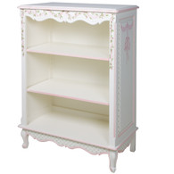 Small French Bookcase: Ribbon & Roses