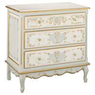 French Chest Finish: Reef / Linen / Gold Hand Painted Motif: Verona Knobs: Glass Knobs with Gold Base
