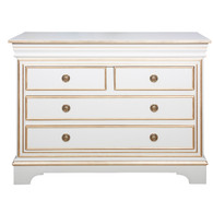 London Chest: Antico White / Gold Gilding