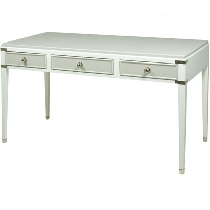 Gramercy Console Desk Body Finish: Snow Upgraded Second Color On Drawer And  Top Finish:
