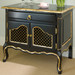 Country French Night Table: Black / Gold Gilding