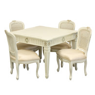 Juliette Play Table and Chair Set: Versailles Linen / Belle Champagne