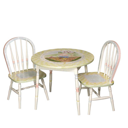 Amazing Round Play Table And Chair Set: Nursery Rhymes