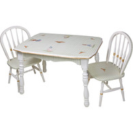 Vintage Play Table and Chair Set: Classic Enchanted Forest