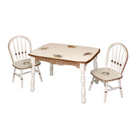 Vintage Play Table and Chair Set: Ponies