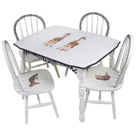 Vintage Play Table and Chair Set: Safari