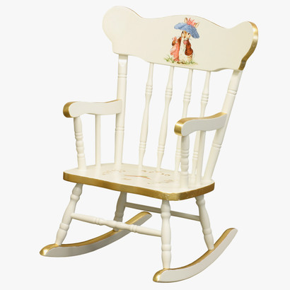 Childu0027s Rocking Chair: Classic Enchanted Forest Gold Gilding