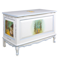French Toy Chest Finish: Antico White Hand Painted Motif: Custom Madeline Artwork