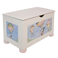 Toy Chest Finish: Antico White Hand Painted Motif: Hot Air Balloon