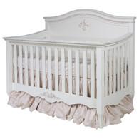 Amelie Crib Finish: Versailles Creme / Versailles Pink Appliqued Moulding Option: AFK Standard Moulding in Versailles Pink