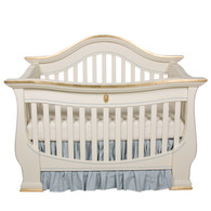 London Crib Finish: Linen / Gold Gilding / Blue