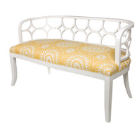 Fiona Bench: Antico White / C.O.M.