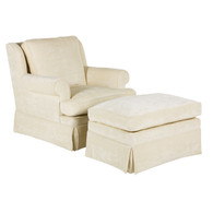Greenwich Glider and Ottoman: Ivana