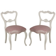 Pair of Dainty Carved Chairs