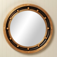 Federal Mirror: Black / Gold Gilding