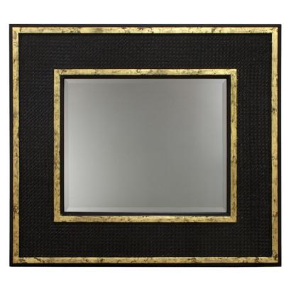 Evan Mirror: Black / Gold Gilding