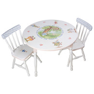 Round Play Table and Chair Set: Alice in Wonderland