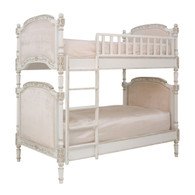 JOSEPHINE BUNK BED Bed Size: Twin Over Twin Finish: Versailles Creme Fabric: AFK Empress Pink
