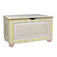 Toy Chest Finish: Antico White Hand Painted Motif: Serendipity