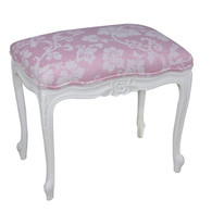 Petite French Bench: Antico White / C.O.M.