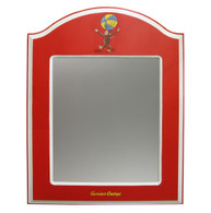 ARCHED MIRROR Curious George Red
