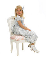 Petite French Chair: Antico White / C.O.M