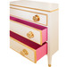 Hollywood Chest: Antico White / Gold Gilding / Hot Pink