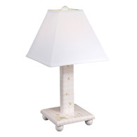TABLE LAMP Nursery Animals / Pink Gingham
