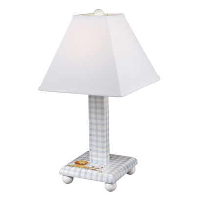TABLE LAMP Safari / Blue Gingham