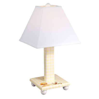 Wonderful TABLE LAMP Safari / Yellow Gingham
