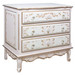 French Chest Finish: Pink / Linen / Gold Hand Painted Motif: Verona Knobs: Glass Knobs with Gold Base